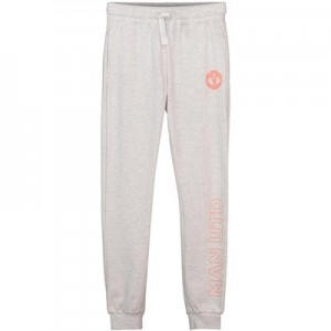 Manchester United Cuffed Jog Pants - Grey - Girls