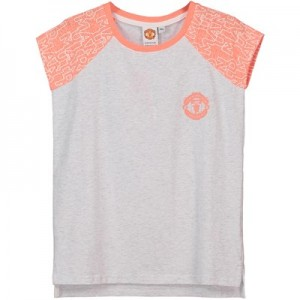 Manchester United Cap Sleeve T-Shirt - Peach - Girls