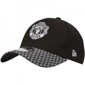 Manchester United New Era 39THIRTY Stretch Hex Weave Visor - Black - Adult
