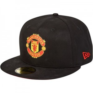 Manchester United New Era 59FIFTY Essential Crest Snapback Cap - Black - Adult