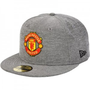 Manchester United New Era 59FIFTY Chambray Snapback Cap - Grey - Adult