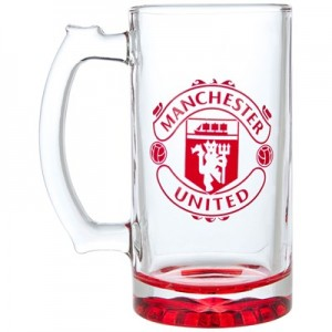 Manchester United Crest Stein Pint Glass