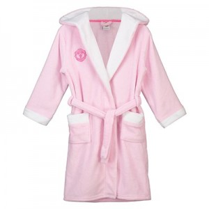Manchester United Hooded Dressing Gown - Pink - Girls