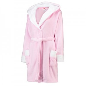 Manchester United Hooded Dressing Gown - Pink - Women
