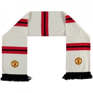 Manchester United Crest Bar Scarf - White - Adult