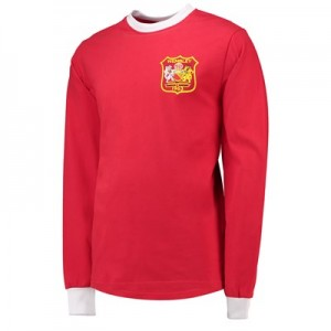 Manchester United 1963 FA Cup Final Retro Shirt - Red - Mens