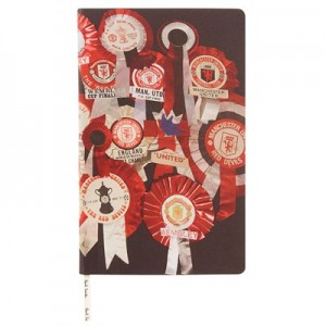 Manchester United x Paul Smith - 'Vintage Rosette' Print Note Book
