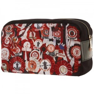 Manchester United x Paul Smith - 'Vintage Rosette' Canvas Wash Bag