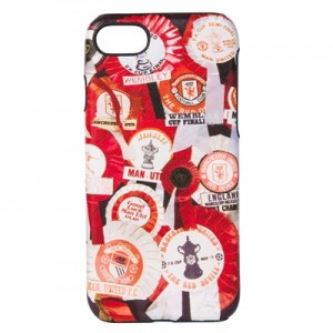 Manchester United x Paul Smith - 'Vintage Rosettes' Print Leather iPhone 6/6S/7/8 Case