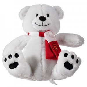 Manchester United Christmas Polar Bear Soft Toy