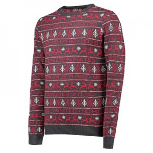 Manchester United Fairisle Christmas Jumper - Red - Adult