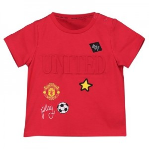 Manchester United 3D Print T-Shirt - Red - Baby