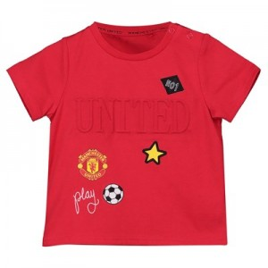 Manchester United 3D Print T-Shirt - Red - Infants