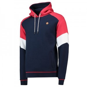 Manchester United Retro Sports Colourblock Hoodie - Navy/Red - Mens
