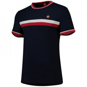 Manchester United Retro Sports Classic Tipped T-Shirt - Navy - Mens
