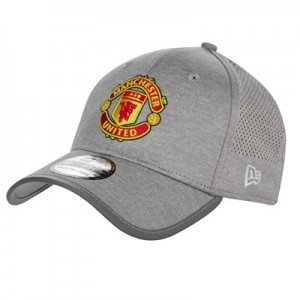 Manchester United New Era 39THIRTY Jersey Cap - Grey Marl - Adult