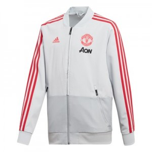 Manchester United Training Presentation Jacket - Kids - Grey