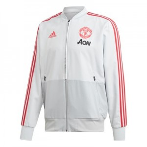 Manchester United Training Presentation Jacket - Grey