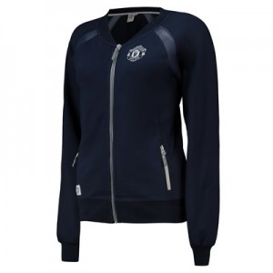 Manchester United Bomber Jacket - Navy - Womens