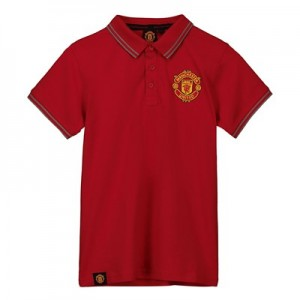Manchester United Core Polo Shirt - Red - Boys