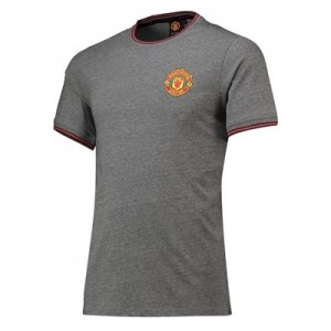 Manchester United Core Ringer T-Shirt - Grey - Mens