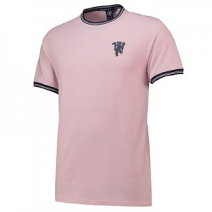 Manchester United Jacquard T-Shirt - Pink - Mens