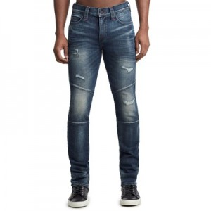 Manchester United True Religion Rocco Skinny Fit Blue Jean with Side Branding - Mens