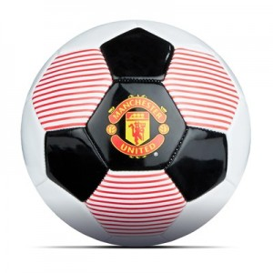 Manchester United Crest PVC Football - White-Black - Size 3