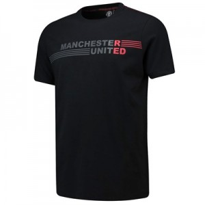 Manchester United Printed T-Shirt - Black - Mens