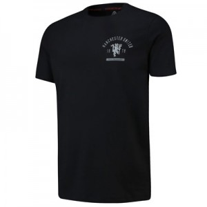 Manchester United Grading T-Shirt - Black - Mens