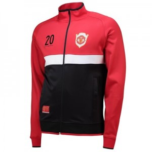 Manchester United Track Jacket with Contrast Panels - Red - Mens