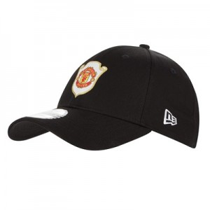 Manchester United New Era 9FORTY Treble Cap - Black - Adult