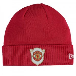 Manchester United New Era Cuff Treble Knit - Red - Adult