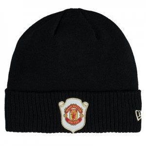 Manchester United New Era Cuff Treble Knit - Black - Adult