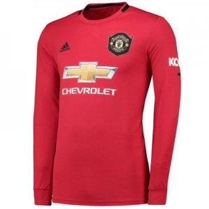 Manchester United Home Shirt 2019 - 20 - Long Sleeve