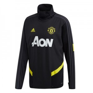 Manchester United Training Warm Top - Black