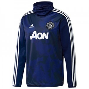 Manchester United Pre Match Warm Top - Blue