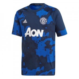 Manchester United Pre Match Shirt - Blue - Kids