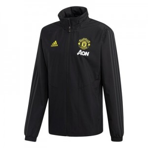 Manchester United All Weather Training Jacket - Black