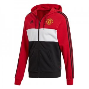 Manchester United Full Zip Hoodie - Red