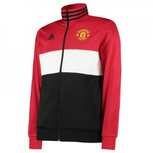 Manchester United Three Stripes Track Top - Red