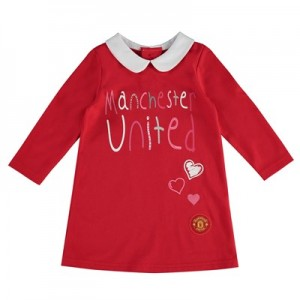 Manchester United Collar Dress - Red - Infant