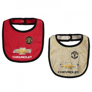 Manchester United 2 Pack Kit Bibs - Red/Grey - Baby