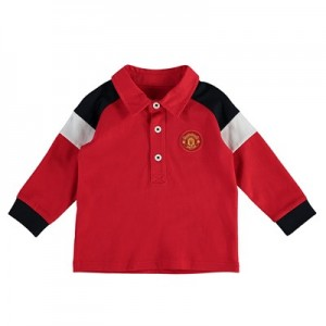 Manchester United Rugby Polo Shirt - Red/Black - Infant