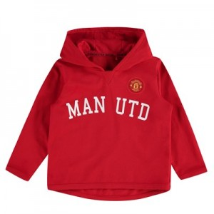 Manchester United Rubber Print Hoodie - Red - Infant