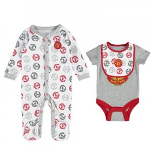 Manchester United 3 Piece Set - White/Red/Grey - Baby