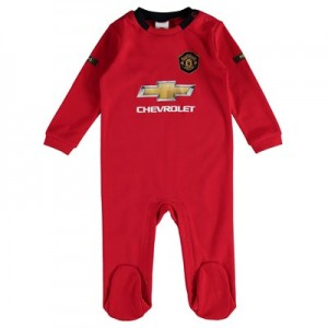 Manchester United Kit Sleepsuit - Red - Baby