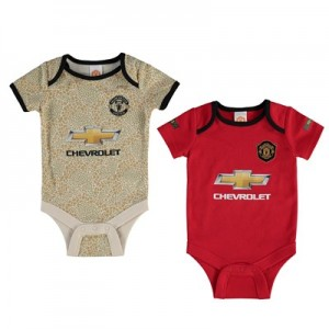 Manchester United 2 Pack Kit Bodysuit - Red/Grey - Baby