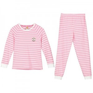 Manchester United Striped Pyjamas - Pink - Girls