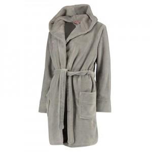 Manchester United Hooded Robe - Grey - Womens